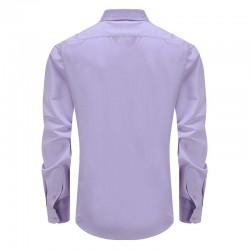 Bamboo purple shirt men round him
