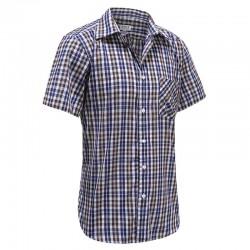 Heren overhemd korte mouw met magneten, ideaal voor parkinson, reuma