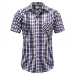 MYLE overhemd korte mouw met magneten, met borstzakje