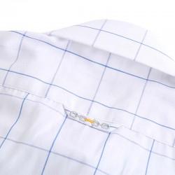 Verbindings logo van MYLE op de overhemd loop