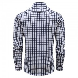 Men long sleeve shirt with buttons, loose fit model