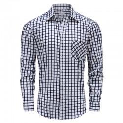 Overhemd heren lange mouw met magneten, met borstzakje