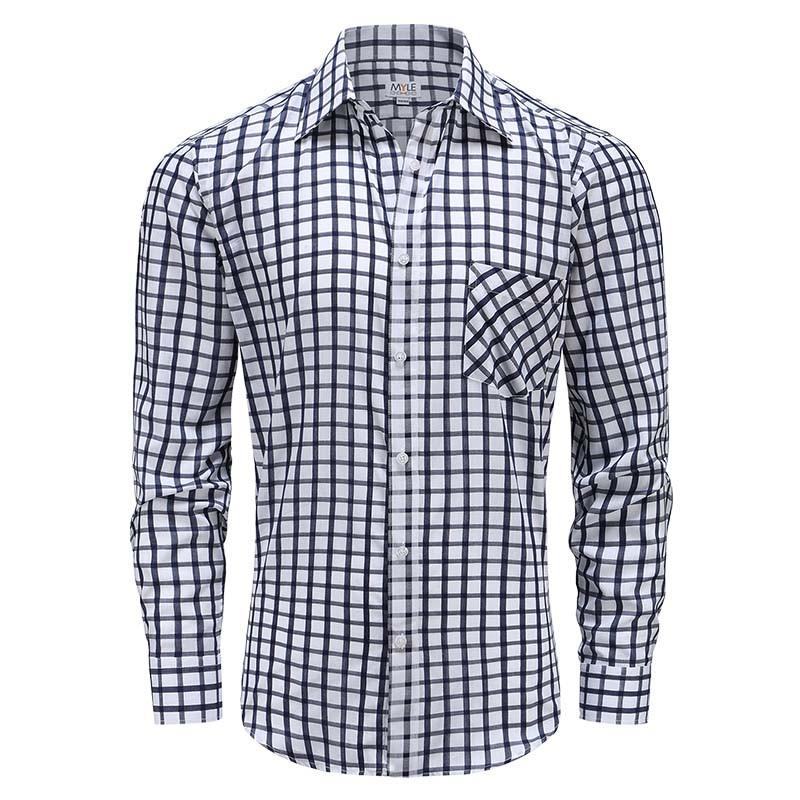 Les hommes chemise à manches longues avec des boutons, Pocket