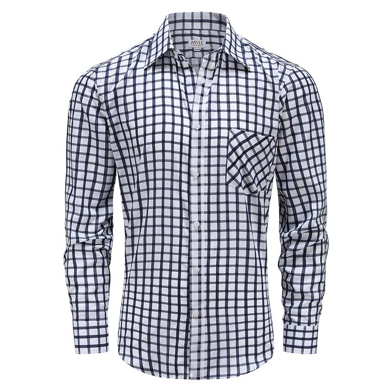 Men long sleeve shirt with buttons, Pocket