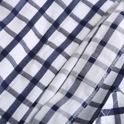 Men long sleeve shirt with buttons, hidden in the hem.