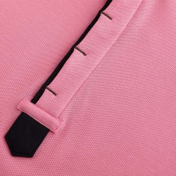 Polo shirt with hidden placket or hidden buttons from HCTUD.