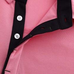 Heren polo shirt met hidden buttons van HCTUD. Micromodal.