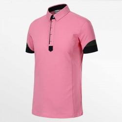 Herren Poloshirt rosa von HCTUD von Micro-Modal Pique.