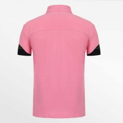 Pink men's polo shirt with a yoke is proof of a quality polo.