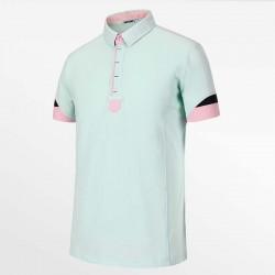 Herren Poloshirt vert von HCTUD von Micro-Modal Pique.