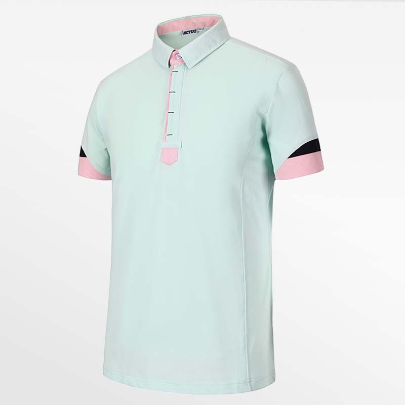 Men's poloshirt vert from HCTUD  from Micro-modal pique.