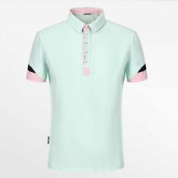 Polo shirt heren van HCTUD groen met zwart en groen met EU Ecolabel.
