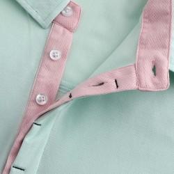 Herren Polo shirt mit versteckten Knöpfen von HCTUD. Mikromodal.