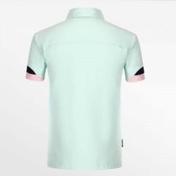 Groene heren polo shirt met een yoke is het bewijs van een kwaliteits-polo.