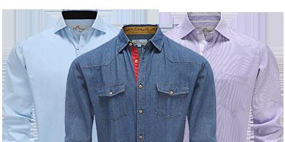 Overhemden voor heren, uniek door oplage van 500 stuks per model!