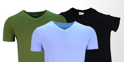 Mens tshirts bamboo or cotton | Ollies Fashion