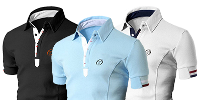 Polo pique for tennis, golf and leisure Unique and limited edition