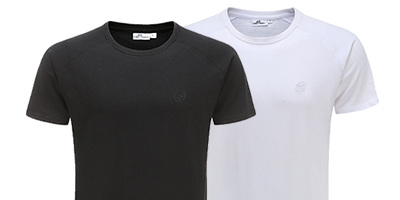 Tshirt 220 grams 100 percent cotton black and white | Ollies Fashion