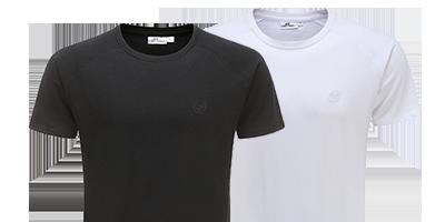 Tshirt 220 grams 100 procent katoen zwart en wit | Ollies Fashion