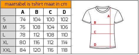 size chart tshirt Ollies Fashion